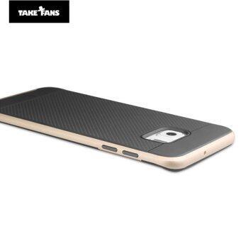 โทรศัพท์+TAKE FANS Samsung Galaxy S6 Edge TPU+PC เคส (ทอง)