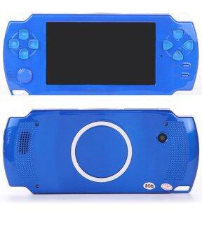 2559 ใหม่ 4.3นิ้วขนาดบางเฉียบพกพาเกมคอนโซลหน้าจอสัมผัส 8กรัมในวิดีโอเกมแบบพกพาได้สร้างความปลอบประโลม MP3 MP5 เล่นดนตรีสำหรับเด็กโต (สีน้ำเงิน)