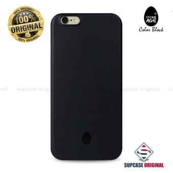 STONE AGE Color Block Collection Slim Fit Case 0.4 mm. ของแท้ สำหรับ iPhone 6 Plus และ iPhone 6S Plus สีดำ (Solid Black)