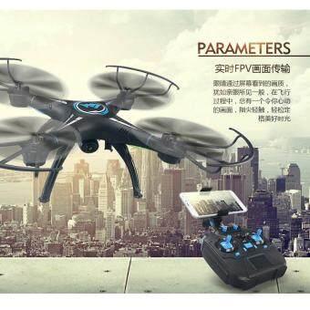 Drone ติดกล้องความละเอียดสูง พร้อมระบบถ่ายทอดสดแบบ Realtime(์NEW มีระบบ ล็อกความสูงได้)สีดำ