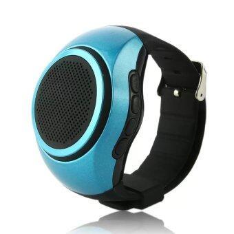 B20 นาฬิกาข้อมือ ลำโพงบลูทูธ (Bluetooth Watch Mini Speaker) สำหรับ รับสายโทรศัพท์, ฟังเพลง, ฟังวิทยุ FM และ รีโมทถ่ายรูป Selfie Shutter (สีน้ำเงิน)