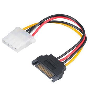 ช่องเสียบแปลงสายอะแดปเตอร์ SATA power M to 4 pin