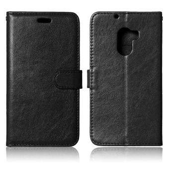 Harga 3 Card Slots Leather Flip Stand Phone Case for Lenovo Vibe X3 Lite/A7010/K4 Note - Black - intl