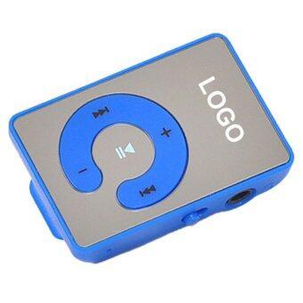 Sanwood คลิปยูเอสบี MP3 เล่นรองรับ 1.., 8จิกะไบต์ไมโครเอสดี ถ้าเขา+หูโทรศัพท์+สายสีน้ำเงิน