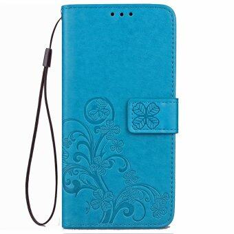 Harga High-quality Leather Wallet Cards Holder Stand Case Cover For LG V20 Sky Blue - intl