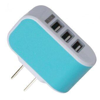 ปลั๊กไฟ LED USB 3 ช่อง CHARGER 3.1 A รุ่น YD-3U (สีฟ้า)