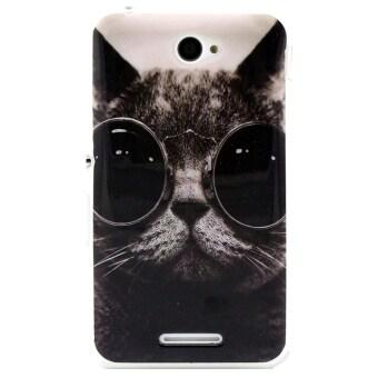 ลีกรูปแบบการป้องกันแมวเคส TPU เย็นสำหรับ Sony Xperia E4 (สีดำ)