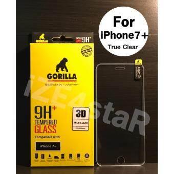 Gorilla 3D True Clear Tempered Glass กอริล่าฟิล์มกระจกนิรภัยใสเต็มจอขอบยาง For iPhone 7 Plus