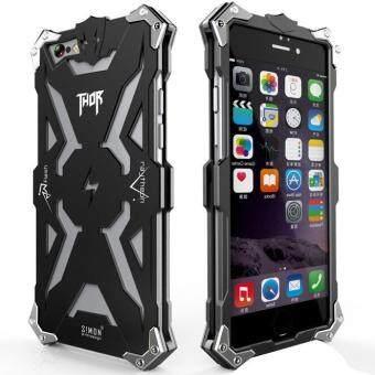 โทรศัพท์อลูมิเนียม Thor Series ครอบโลหะบินสำหรับ Apple iPhone 6 Plus 6s Plus/(สีดำ)