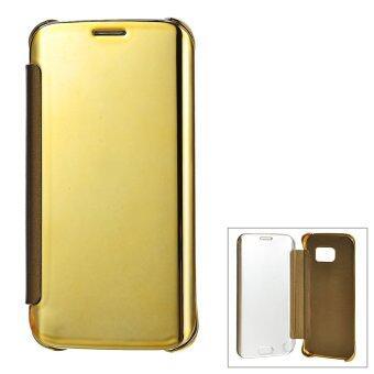 ครอบกระจกป้องกันปูเคสสำหรับ Samsung Galaxy S6 Edge-ทอง