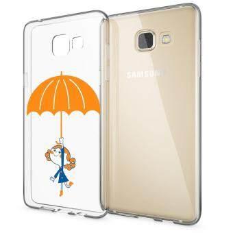 HugCase TPU เคส Samsung Galaxy A9เคสโทรศัพท์พิมพ์ลาย Open an umbrella เนื้อบาง 0.3 mm