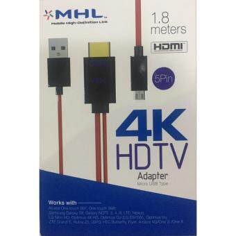Harga SUNWAY MHL 3241 สายแปลง MHL Micro USB (5Pin) to HDMI 4K Adapter Cable for Samsung ทุกรุ่น