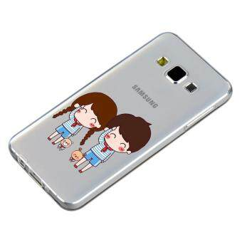 HugCase TPU เคส Samsung Galaxy A7 2015 เคสโทรศัพท์พิมพ์ลาย Say Hi เนื้อบาง 0.3 mm