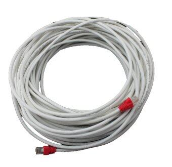 LINK Cable CAT6 สายแลนเข้าหัวสำเร็จรูป อุปกรณ์ทุกชิ้น Link แท้ 100% ยาว 15 เมตร - White