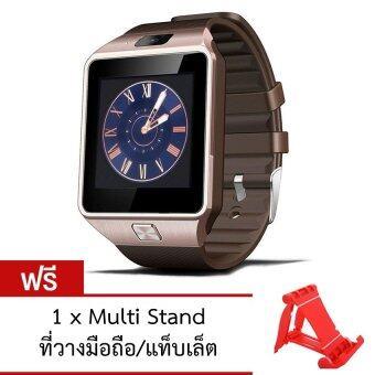 ATM Smart Watch Phone รุ่น A9 กล้องนาฬิกาบูลทูธ ใส่ซิมได้ Bluetooth Smart Watch SIM Card Camera(สีทอง) ฟรี ที่วางมือถือ/แท็บเล็ต (คละสี)