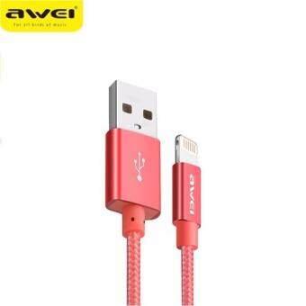 Awei CL-988 สายชาร์จ 30cm short Lightning Charger USB Cable 30cm short Lightning Charger USB Cable (สีแดง)