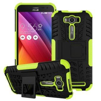"Harga ZE500KL Case, Hard PC+TPU Shockproof Tough Dual Layer Cover Shell for ASUS Zenfone 2 Laser 5.0"", Green - intl"