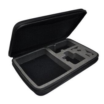 Gopro ไซส์กลางขนาดกระเป๋าเคส Gopro Hero 3/4 เอส 4000 Xiaomi Yi ดำเนินการ Soocoo กีฬาอุปกรณ์กล้องจับภาพไปโปร (สีดำ)