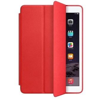 2558 ใหม่ปกเสื้อเก่งสำหรับ ipad Air 2 บูธขนาดเล็กพลิกคดีลักหนังต้นฉบับคาปาหลักสำคัญสำหรับ Apple iPad air2 เคส (สีแดง)