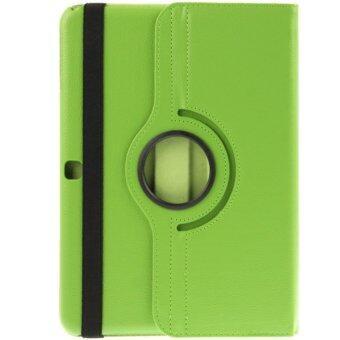 CASE PHONE เคส Samsung Galaxy Tab 2 (10.1 นิ้ว) รหัส P5100 / P7500 (ไม่มีปากกาที่ตัวเครื่อง) รุ่น Rotary หมุน 360 องศา (สีเขียว)