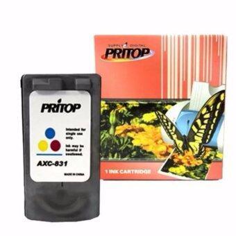 Axis / Canon ink Cartridge 831/CL831/CL 831XL/CL-831XL ใช้กับปริ้นเตอร์ Canon Inkjet iP1980/iP1880/iP2580/MP476/MP228/MP145/MX318/MX308 Pritop