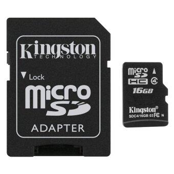 นำเสนอ Kingston Micro SD Card Class 4 (16GB) with Adapter check ราคา