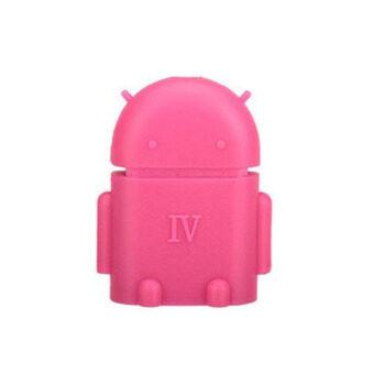 Elit USB On-The-Go (OTG) สำหรับต่อ เข้าสมาร์ทโฟน/แท็บเล็ต mini รูป Robot Android - Pink