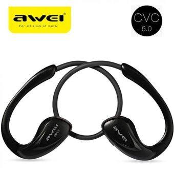 Awei หูฟังบลูทูธ Sport A880BL Wireless Bluetooth V4.0 หูฟังแบบสอดหู ทรง Sport กันเหงื่อ Headphones Sports Stereo Earphones (Black)