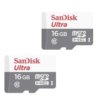 Sandisk เมมโมรี่การ์ด 16GB Ultra 48MB/s Class 10 UHS-I Micro SD HC (2ชิ้น)
