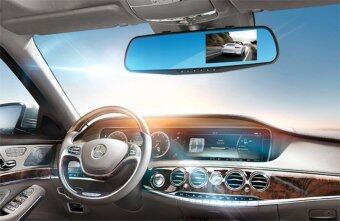 GOOD IT Black Box DVR กล้องติดรถยนต์แบบกระจกมองหลังพร้อมกล้องติดท้ายรถ FHD1080Pแพ็คคู่ (สีดำ) ฟรีMicro SD CARD 32Gแพ็คคู่ (image 2)