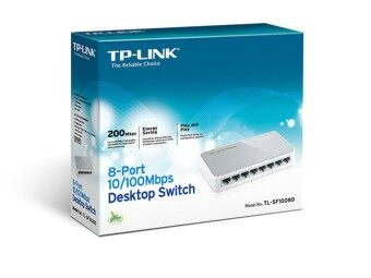 TP-LINK SWITCH HUB 8 PORT 10/100 (TL-SF1008D) - สีขาว