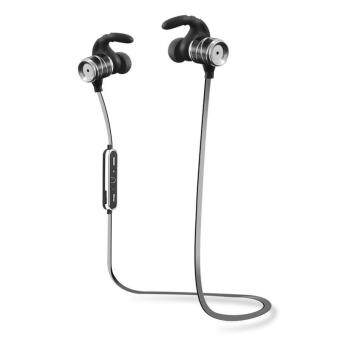 NEW Sports หูฟังแบบสอดหู Sweatproof/Waterproof Wireless Bluetooth In-Ear Headphones Double Color Movement Version For IOS And Android(Sliver) - intl