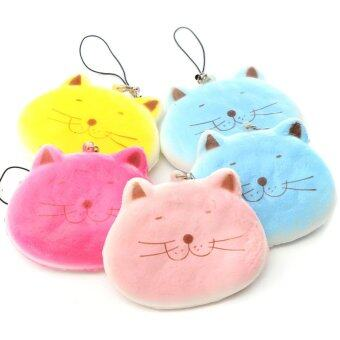 Harga 8CM Kawaii Cartoon Fat Cat Adorable Squishy Bread Keychain Bag Phone Charm Strap - intl