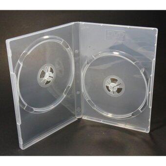 HP DVD Box Case 2 Disc กล่อง 2 DVD กล่อง ดีวีดีใส 2 แผ่น(Pack 25 Box)(White)