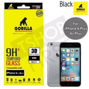 Gorilla New 3D Real Curved กอริล่า ฟิล์มกระจกนิรภัยเต็มจอขอบโค้ง For iPhone 6 Plus,6s Plus