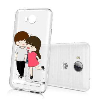 Hug Case TPU เคส Huawei Y3 II เคสโทรศัพท์พิมพ์ลาย คู่ เนื้อบาง 0.3 mm