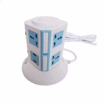 ปลั๊กไฟ ทรงคอนโด เอนกประสงค์ 3 เมตร 2 ชั้น 2 USB ยี้ห้อ D-VER รับประกัน 3 ปี (สีฟ้า)