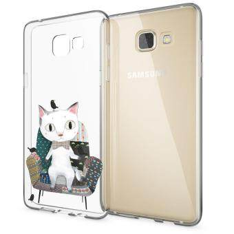 HugCase TPU เคส Samsung Galaxy A5 2016เคสโทรศัพท์พิมพ์ลาย King Cat เนื้อบาง 0.3 mm