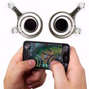 จอยเกมส์มือถือ (1คู่ ) ทุกเกมที่ใช้ระบบสัมผัสนิ้วโป้งซ้าย-ขวา (Android / iPhone iPad) i-Joystick For All Mobile Brand