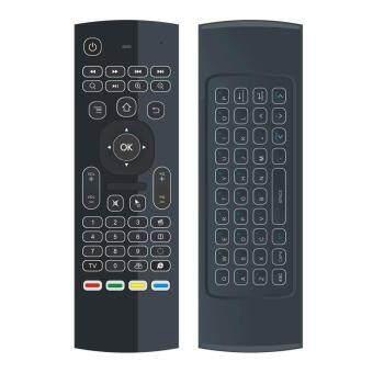 คีย์บอร์ดเมาส์ MX3 Air Mouse คีย์บอร์ดไร้สาย 2.4G การเรียนรู้ด้วย IR Air Mouse (สีดำ) - intl