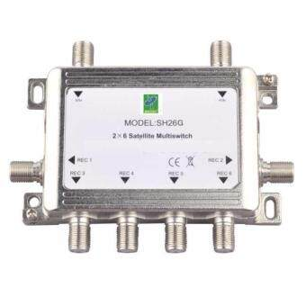 Mastersat Multi Switch 2x6 Full HD สำหรับดูเครื่องรับดาวเทียม C หรือ Ku band 6 จุด รุ่น MS26HD