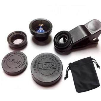 DIDO LIEQI Premium Clip Lens LQ-001 Super Wide คลิปเลนส์มือถือ 3 in 1 (Black)