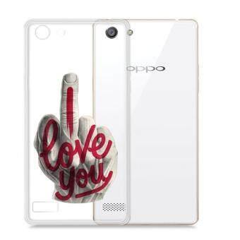 AFTERSHOCK TPU เคส OPPO A33 เคสโทรศัพท์พิมพ์ลาย I Love you เนื้อบาง 0.33 mm