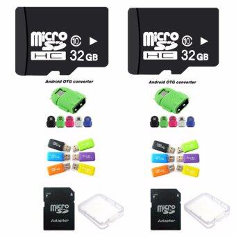Elit 32GB Micro SD Card Class 10 Fast Speed+Micro SD Adapter+USB Micro SD Card Adapter+SD Case Box+OTG (2ชุด) มูลค่า399บาท
