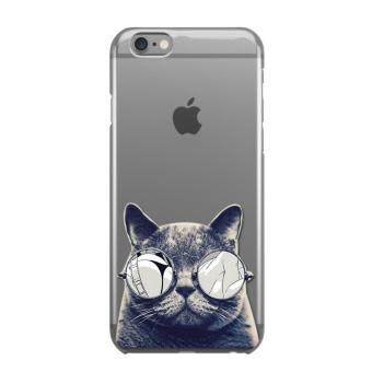 AFTERSHOCK TPU Case iPhone6 /6s (เคสใสพิมพ์ลาย Black Cat) / Thin 0.33 mm