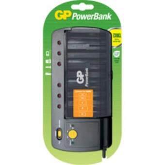 แท่นชาร์จ GP PB320GS-UE1 ใช้ชาร์จแบตเตอร์รี่ได้ทั้ง ขนาด AA / AAA / C / D / 9V ชาร์จได้สูงสุดถึงครั้งละ 4 ก้อน