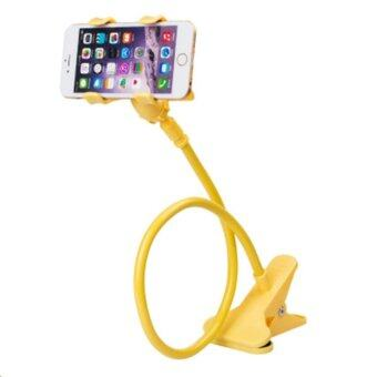 Phone Holder ขาจับมือถือ ที่หนีบสมาร์โฟน แท่นวางไอโฟน แบบหนีบ เหลือง