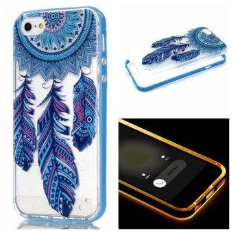 เคส for Apple iPhone 6 / Apple iPhone 6S 4.7 inch Case ซอพท์ใส with สายเข้า แฟลชLED - Blue Dream Catcher