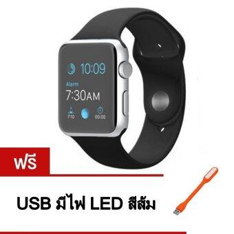 Person นาฬิกาโทรศัพท์ Bluetooth Smart Watch รุ่น A8 Phone watch(Black) ฟรี USB มีไฟ LED (คละสี)