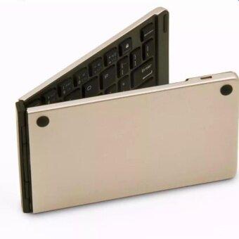 Keyboards Bluetooth F66คีย์บอร์ด บลูทูธ ไร้สาย แถมฟรี สติคเกอร์คีย์บอร์ดพีวีซี ไทย อังกฤษWireless Keyboard Bluetooth For Windows For Android For iOS